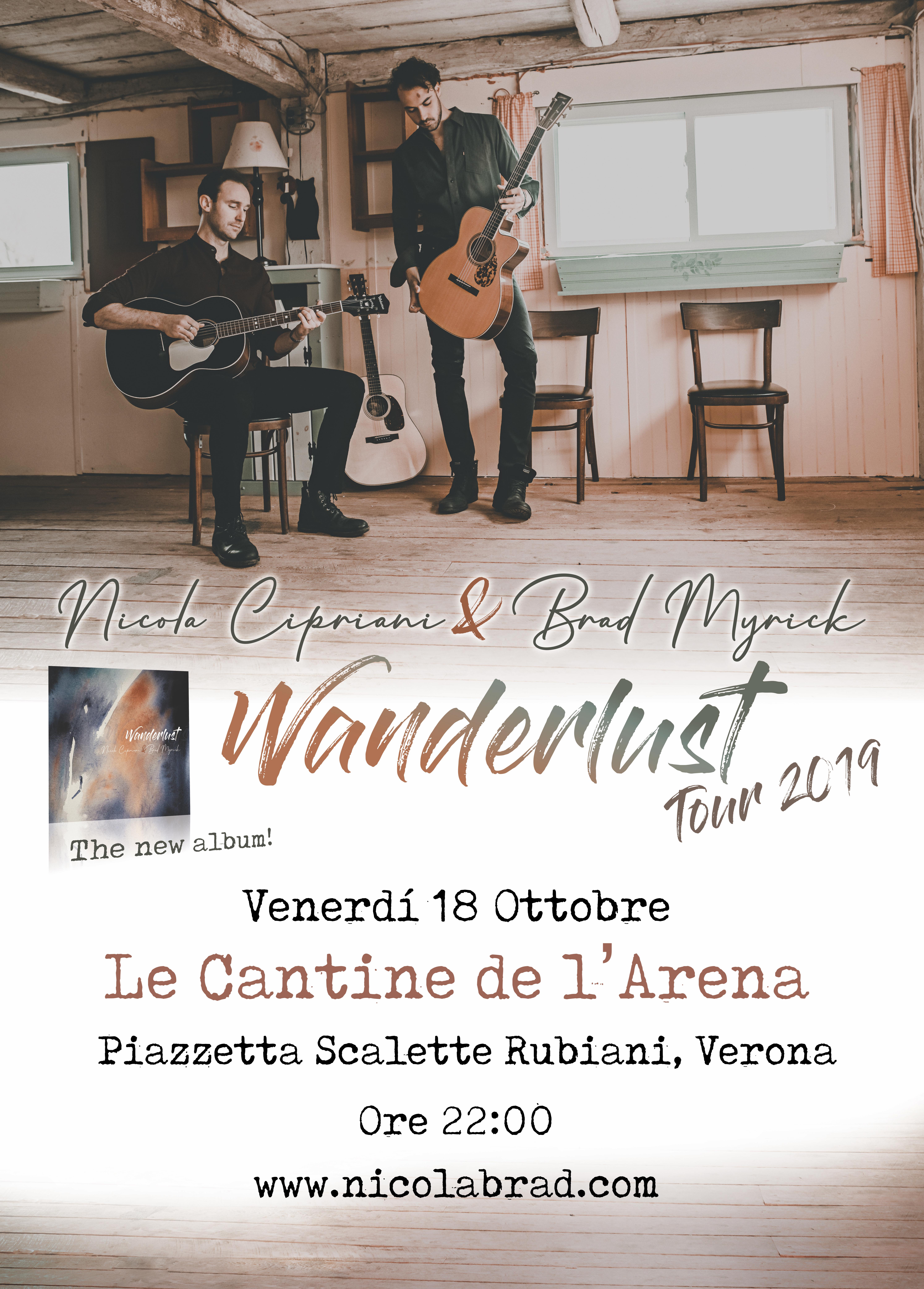 "NICOLA CIPRIANI & BRAD MYRICK  ""Wanderlust Tour 2019"""
