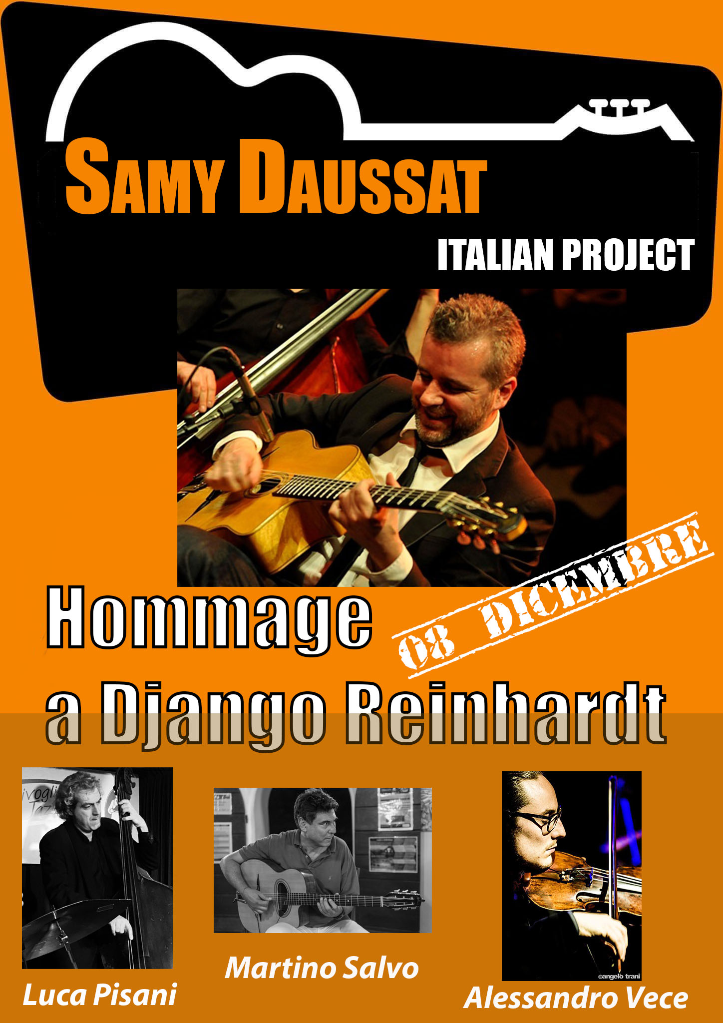 "SAMY DAUSSAT ITALIAN PROJECT ""Hommage a DjangoReinhardt"" (Gypsy jazz)"